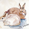 Patio Bunnies by Renee Chastant