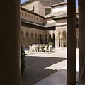 Patio De Los Leones Nasrid Palaces Alhambra Granada by Mal Bray