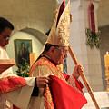 Patriarch Fouad Twal At Christmas Mass by Munir Alawi