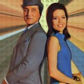 Patrick Macnee And Diana Rigg, The Avengers by Mary Bassett
