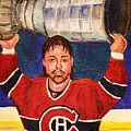 Patrick Roy Wins The Stanley Cup by Carole Spandau
