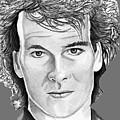 Patrick Swayze by Bill Richards