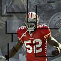 Patrick Willis San Francisco 49ers Blocks by Joe Hamilton