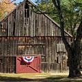 Patriotic Barn by Nancy De Flon