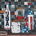 Patriotic Bottles And Jars by Judy Lybrand