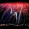 Patriotic Fireworks S F Bay by Brian Tada