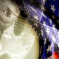Patriotic Guitar by Carolyn Marshall