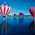 Patriotic Hot Air Balloon by Jerry McElroy