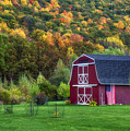 Patriotic Red Barn by Mark Papke