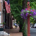 Patriotic Street In Philadelphia by Debbi Granruth