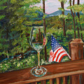 Star Spangled Wine - Fourth Of July - Blue Ridge Mountains by Jan Dappen
