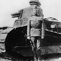 Patton Beside A Renault Tank - Wwi by War Is Hell Store