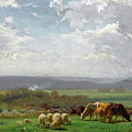 Paturage En Auvergne by Auguste Bonheur