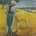 Paul Serusier 1864 - 1927 Breton Young To Sickle by Artistic Rifki