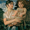 Pauline Runge With Her Two Year Old Son by Philipp Otto Runge