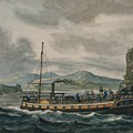 Pavel Petrovich Svinin, 1787 -1839, Steamboat Travel On The Hudson River by Artistic Rifki