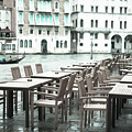 Pavement Cafe, Venice by Jean Gill