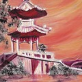 Pavillion In China by Suzanne  Marie Leclair