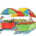 Paw Paw At The Market by Leah Wiedemer
