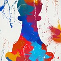 Pawn Chess Piece Paint Splatter by Dan Sproul