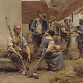 Paying The Harvesters by Leon Augustin Lhermitte