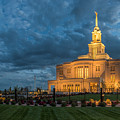 Payson Temple Panorama by Dustin  LeFevre