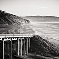 Pch Scenic In Black And White by Art Wager