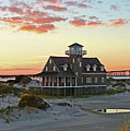 Oregon Inlet Life Saving Station 2687 Pano Signed by Jack Schultz