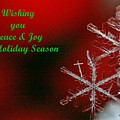 Peace And Joy Christmas Card Two by Angela Patterson