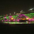 Peace Bridge At Night by Deborah Selib-Haig DMacq
