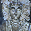 Peace Buddha by Mary jane Miller