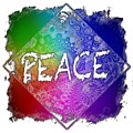 Peace Cool Rainbow 3 Dimensional by Di Designs