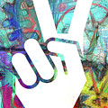 Peace Hand Sign 1  by Edward Fielding