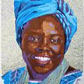Peace Portrait Three Wangari Maathai by Barbara Lugge