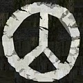 Peace - Rustic by Michelle Calkins