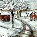 Peaceful Christmas Farm by C Keith Jones