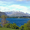 Peaceful Lake -- New Zealand by Douglas Barnett