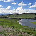 Peaceful Lake At Yellowstone by Diane Wallace