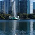Peaceful Lake Eola by Denise Mazzocco