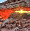 Peaceful Morning - Sunrise At Mesa Arch - Moab Utah by Gregory Ballos
