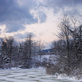 Peaceful Pastels Of A Winter Sunset by Terrance DePietro