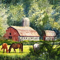 Peaceful Pasture by Shirley Braithwaite Hunt