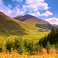 Peaceful Sunny Day In Mountains. Rest And Be Thankful. Scotland by Jenny Rainbow