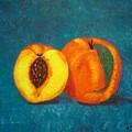Peach And A Half by Nancy Sisco