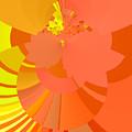 Peach Apricot Mango Lemon Abstract by Judi Suni Hall