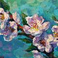 Peach Blossoms Flowers Painting by Svetlana Novikova