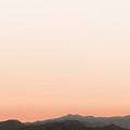 Peach San Jacintos by Stan  Magnan