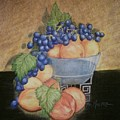 Peaches And Grapes by Patricia R Moore