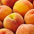 Peaches Background by Elena Elisseeva