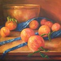 Peaches With Apron by Tom Forgione